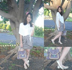 Asteroide M19 - Renner Blouse, Skirt, Analóis Bag, Carmen Steffens Flats - Life is simple...