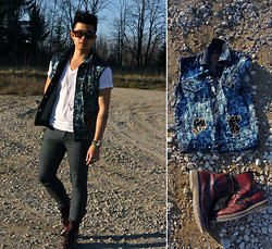 Jean-Pierre Saint-Tran - Levi's® Denim Vest, Dr. Martens Boots, Burberry Watch - Stupid Punk