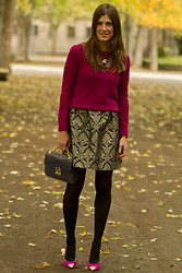 Belén @balamoda - Zara Sweater, Dress, Menbur Bag, Menbur Shoes - Autumn look