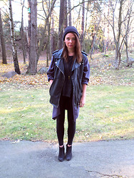 Fiona M - Zara Vest, Wolf Circus Necklace, Monki Cape - Heartlines.
