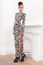 Sophie Bailey - Kendelle Tiger Print Maxi - Hunter