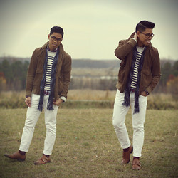 Anthony Urbano - Club Monaco Scarf, J.Crew Sweater, Zara Denim, To Boot New York Shoes, Pennystock Jacket - Corduroy Coated
