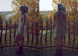 Tanya M. - Staffbymaff Hoodie Dress, Vjstyle Eagle Claw Bracelet, Zara Studded Leather Boots - Harder, Better, Faster, Stronger