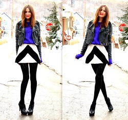 Megan S - Jacket, Vintage Sweater, Karta Dress, Aldo Shoes - Graphic