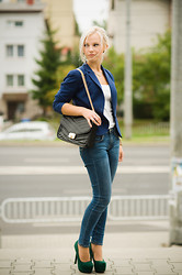 Anna Krukowska - Black Bag - Blue blazer