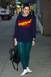 Gabriela Monsanto - New Look Sweater, J. Brand Pants, Proenza Schouler Bag, Zara Boots - KaPow