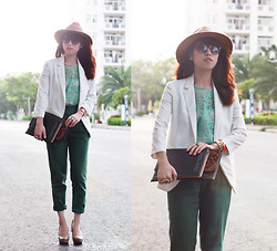 Linda Tran N - Blazer, Lace Shirt, Zara Pants - I can and I will. Watch me.