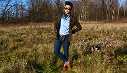 Jean-Pierre Saint-Tran - H&M Blazer, Vintage Shoes, H&M Belt, Vintage Ascot - Fall