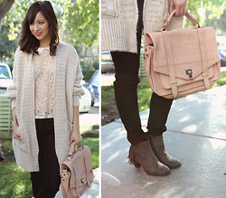 Chesley Tolentino - Sweater, Jellypop Booties - Blush Comfort