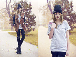 Jane Dean - Cap, Sweater, Romwe Leggins, Bershka Jacket - IF YOU DO IT GOOD, IT WILL LAST FOREVER.
