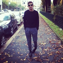 Andrea Bressani - Ray Ban Sunglasses, Cos Sweater, Dolce & Gabbana Pants, Dr. Martens Shoes - New one from Cos