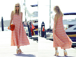 Kristal Anderson - Vama Style Maxi Dress, Topshop Reflect Heels, Sportsgirl Bag, Ray Ban Sunglasses, Michael Kors Watch - IKAT