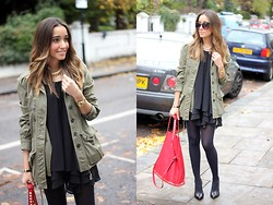 Besugarandspice FV - Zara Parka, Queen´S Wardrobe Dress, Zara Bag - Parka and Black Dress
