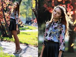 Alexandra Erokhina - Asos Shirt, Hearts And Bows Skirt, Limited Edition Spike Aliceband - Whispers In The Dark