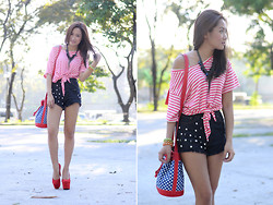 Laureen Uy - Chiz Top, Bubbles Shorts, Mumi Bag, Sugarfree Shoes - Stripes, Studs and Polka Dots (BMS)
