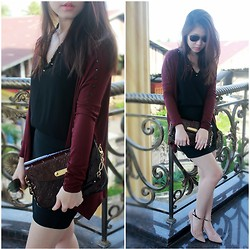Veranica Mulyanto - Louis Vuitton Bag, Zara Shoes, Zara Top, Dotti Skirt - We heart burgundy
