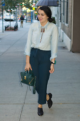 Gabriela Monsanto - Mr. Dannijo Necklace, Madewell Blouse, 3.1 Phillip Lim Bag, Dolce Vita Shoes, Forever 21 Pants - Batter Up