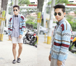 Miko Carreon - Aivan Magno's Cardigan, Memo Buttond Down, Topman Shorts, Wade Shoes - Primitive Revival (1)