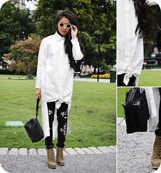 Uliana Kim - Asos Shades, Osome2some Shirt Dress, Isabel Marant Pants, Alexander Wang Boots, Alexander Wang Clutch - FInally