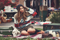 Alicia Raffin - Aztec Sweater, Elephant Heart, Orphan Skirt - Gypsy at Heart