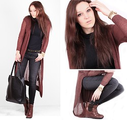 Therez Hahlin - Lager157 Jeans, Minimarket Wedges, Michael Kors Watch, H&M Long Cardigan - Those eyes