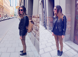 Fiona M - Wolfcircus Necklace, Zara Leather Jacket, Cheap Monday Jeans - High fidelity.