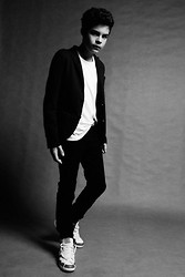 William McClure - Converse Weapon, Topman Blazer, Asos White Shirt, Giorgio Armani Black Jeans - Shadow Converse