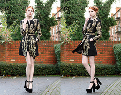 Olivia Emily - Diy Baroque Headband, Baroque Coat, Sos Heels - If you go, I will surely die.