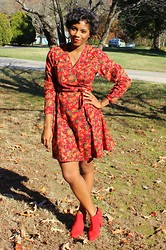 Monroe Steele - Thrifted Dress, Zara Booties - Thrifted thanksgiving