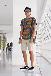 Tristan Flores - Taiwan Shirt, Taiwan Shorts, Nike Shoes, Topman Tote Bag, Topman Studded Bracelet - It Is So Simple