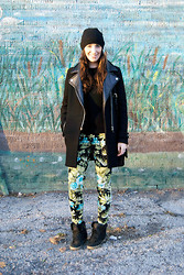 Emma Whyte - Zara Coat, French Connection Uk Jumper, H&M Hat, Zara Pants, Topshop High Tops - Winter Print