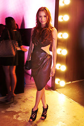 Divine Lee - Martin Bautista Leather And Sequin Dress, Chanel Bag, Nicholas Kirkwood Shoes - D goes to MAC Glamour Daze Event