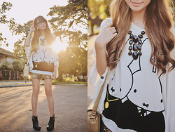 Tricia Gosingtian - 2% X Miffy Top, Zara Shorts, Esperanza Boots, Sm Accessories Necklace, Dazzled Bags Bag, Bayo Glasses - 112512