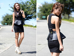 Laureen Uy - Van Vogue Manila Top, Miss Sartorial Detachable Peplum, S&H Shoes - Not So Plain Black Dress (BMS)