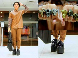 Ron Ramiro - Ram Ring, Elephant Ring, Leopard Ring, Rhino Ring, Eagle Ring, Leopard Ring, The Red Pumps Havoc Ii, Mogul Leather Buttondown - NOAH'S ARK