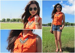 Lui Raymundo - Forever 21 Neck Piece, Satchi Store Loafers, Weekender Top, Casio Vintage Watch, Mango Sunnies, Nine West Sling Bag - Out to shop!