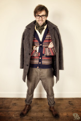 Lawrence M. - Matinique Scarve, Matinique Shirt, Selected Coat, Scotch&Soda Pants, Clarks Boots, Matinique Cardigan - Fair Isle-ish