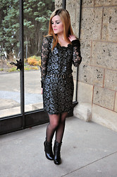 Aurélie Aline S - Vila Winter Lace Dress, Max Shoes Leather Booties - The perfect lace dress