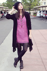 Chesley Tolentino - Free People Dress, Free People Cardigan, Booties - I'M READY!