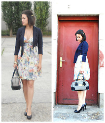 Kristyna XXX - Violet Blazer, Vive Maria Bag - Flower dress