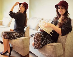 Gabrielle Deanna - Ross Seagull Dress, Rue21 Studded Flatts, Glittery Sweater, Target Burgundy Hat - I Want To be Sophie Hatter.