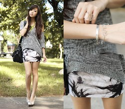 Kryz Uy - Lovelysally Skirt, Clothes For The Goddess Sweater, Cartier Bracelet - Smokin