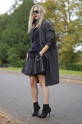 Daniella Robins - Cheap Monday Old Coat, Kg Kurt Geiger Boots - Pointed