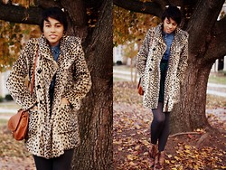 Taylor Brown - Forever 21 Leopard Coat - Scream & Shout - will.i.am