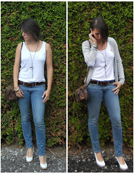 Kristyna XXX - Levi's® Jeans - Denim and white