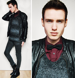 Erwin Bloemendal - H&M Leather Jacket, Bow Tie - Lucky star