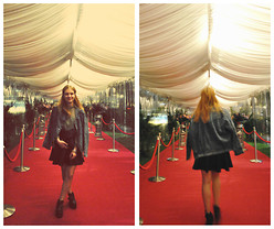 "Simona P. - Topshop Leather Skater Skirt, Flea Market Jeans Jacket - ""I want to become what people become"""