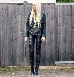 Giselle C - Style Stalker Pants, Armani Exchange Jacket, H&M Boots, Zara Top - Dark Side
