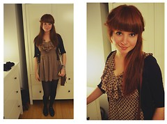 Jana G - New Look Fit & Flare Dress, H&M Laque Brogues, H&M Clutch Bag - Just enough dark to see, how you're the light over me.