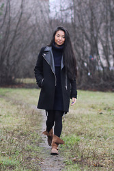 Uliana Kim - Zara Coat, H&M Sweater, Jeffrey Campbell Boots - Before it snowes
